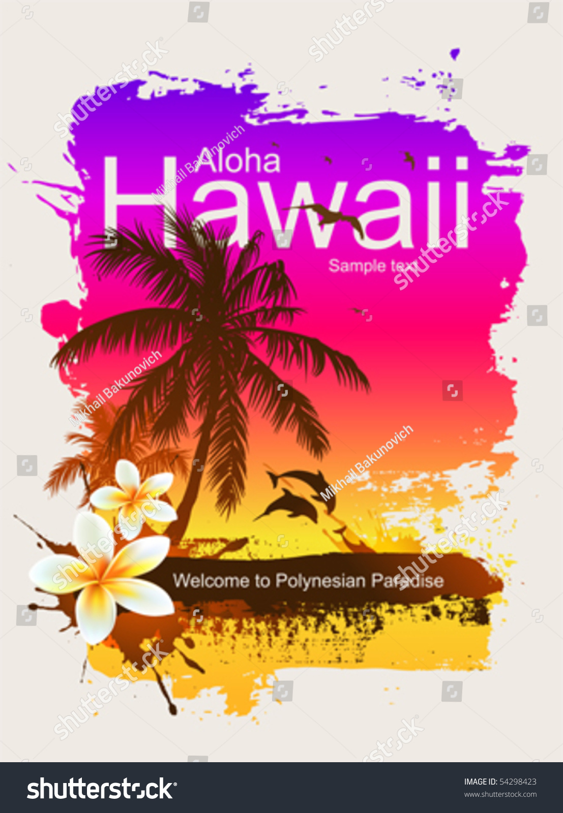 Bird Of Paradise Hd Wallpaper Tropical Background Aloha Hawaii Stock Vector 54298423