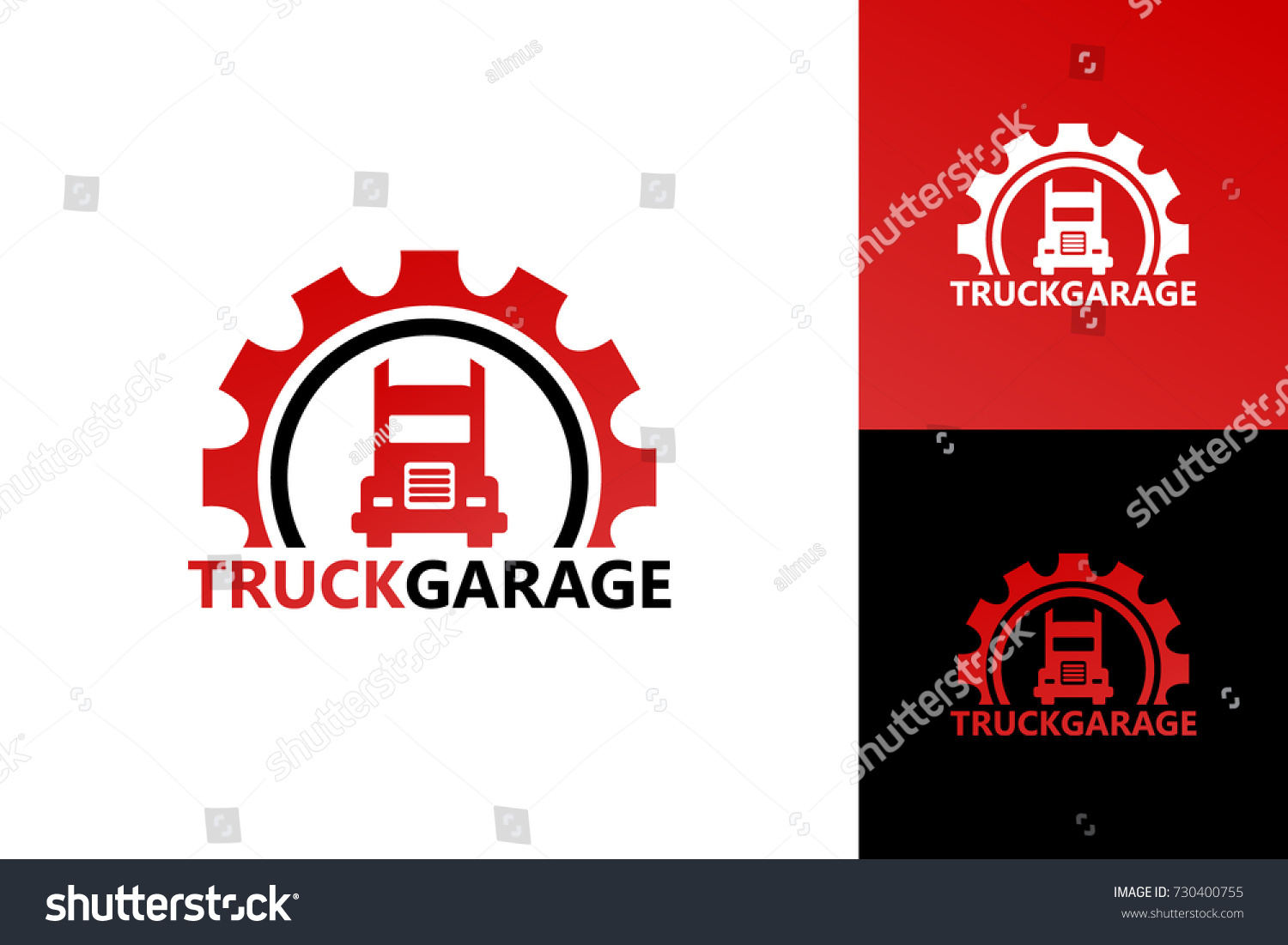 Garage Design Template Truck Garage Logo Template Design Stock Vector Royalty Free
