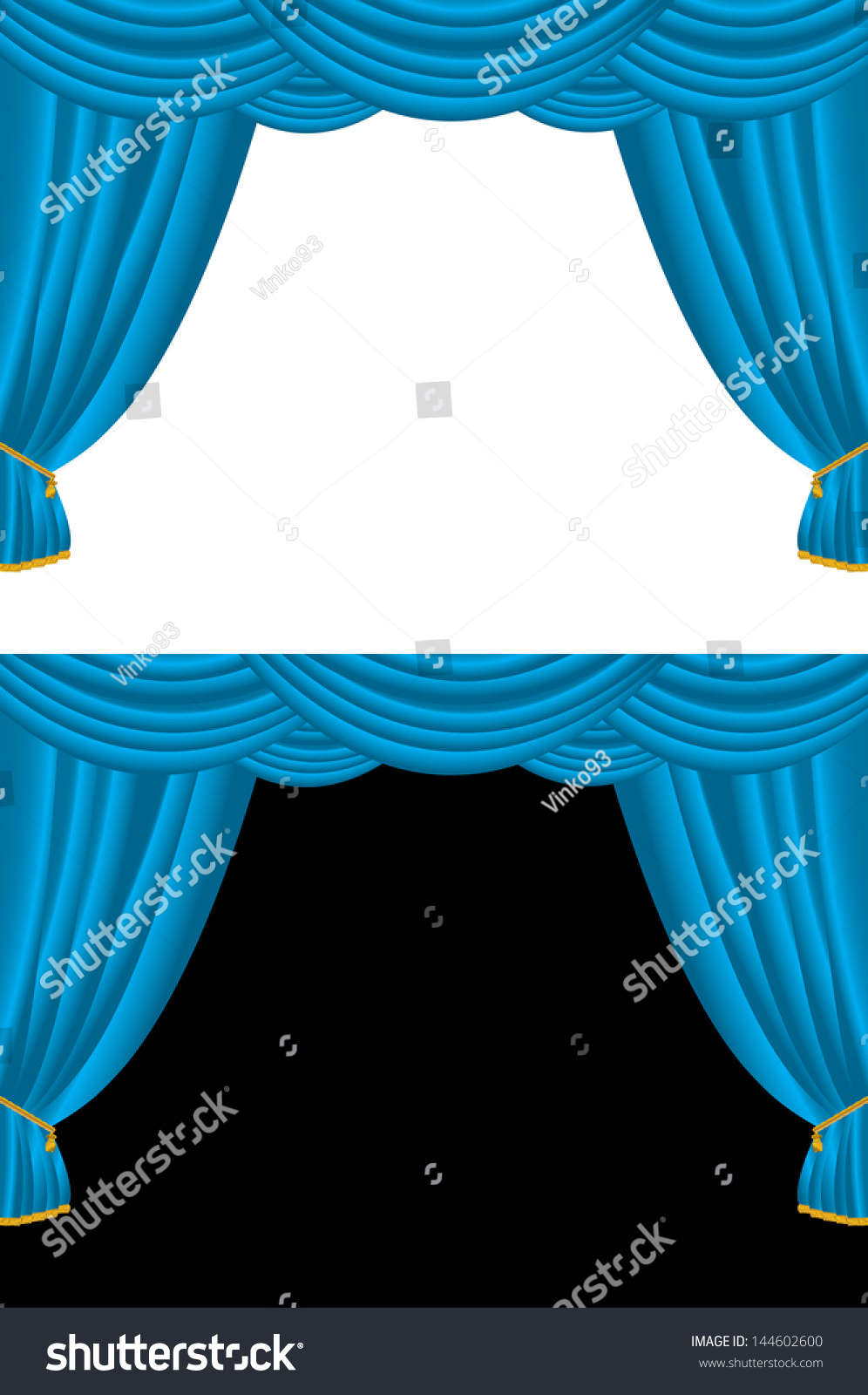 Black And Blue Curtains Vector Background Blue Curtains On Black Stock Vector Royalty