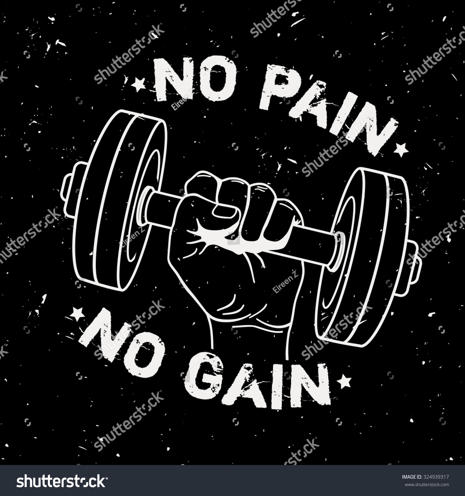 Weight Lifting Wallpaper Iphone Vector Grunge Illustration Hand Dumbbell Motivational