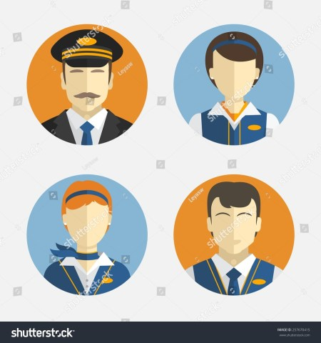 Corporate Flight Attendant Cartoon