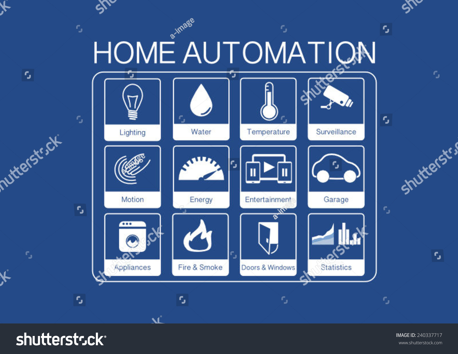 Light Automation Vector Icons Home Automation Control Smart Stock Vector Royalty