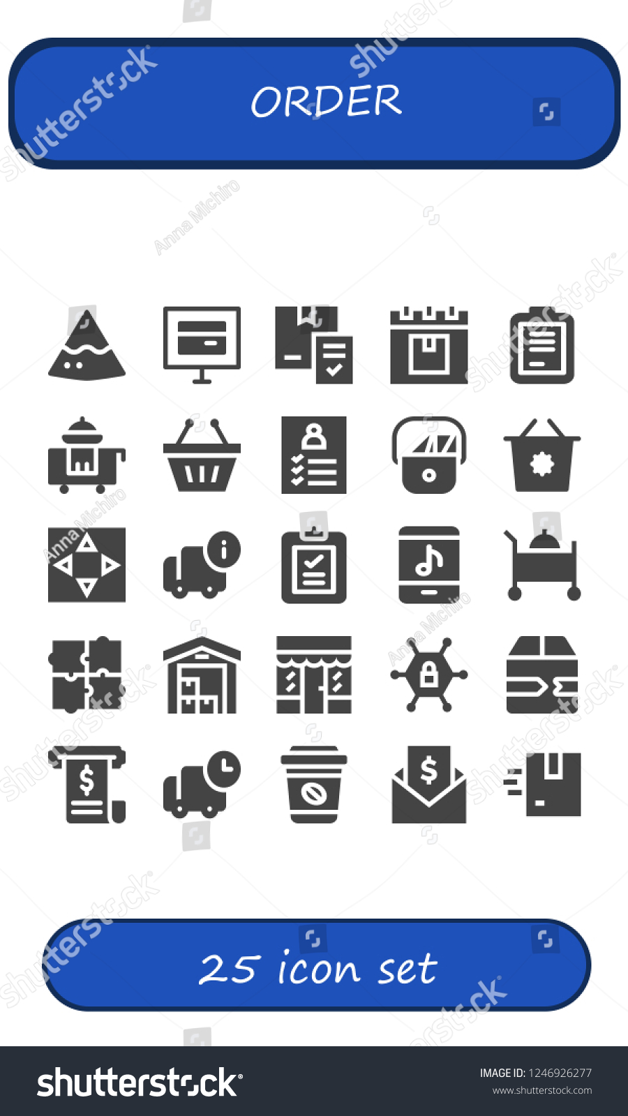 Online Pack Vector Icons Pack 25 Filled Order Stock Vector Royalty Free