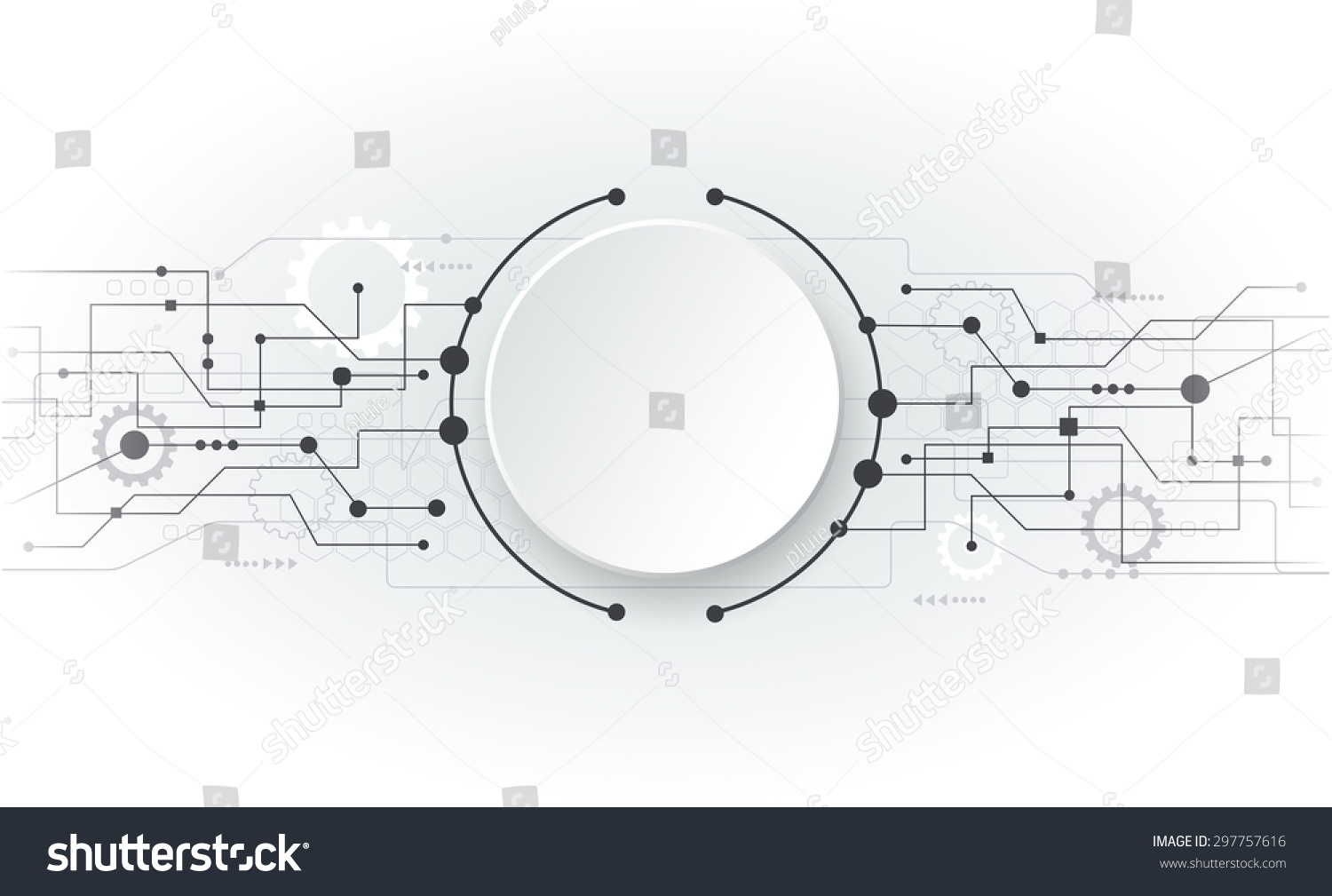 Abstract Circuit Board Technology Vector Background Stock Auto Image 45284500 Illustration Futuristic