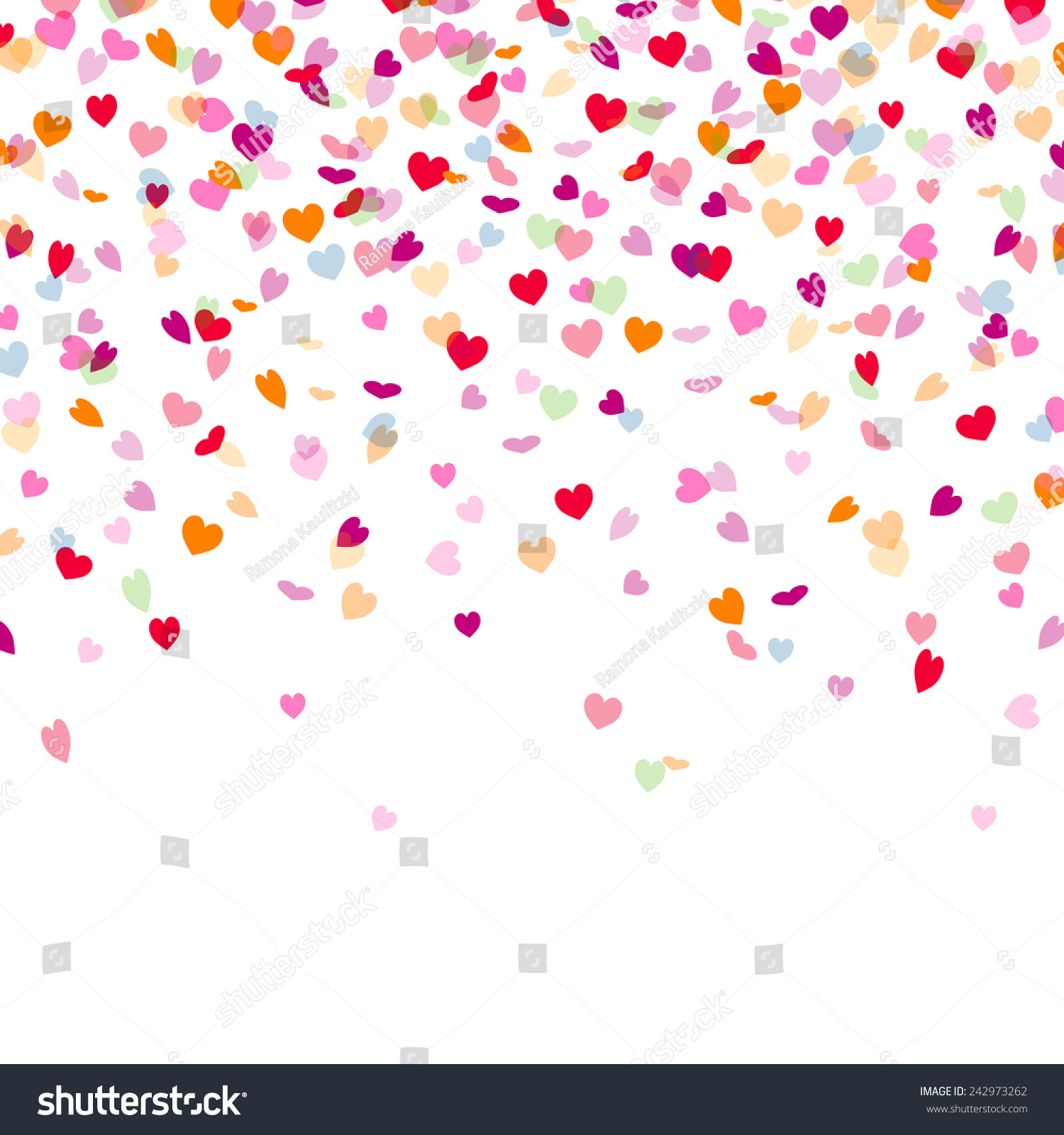 Purple Falling Circles Wallpaper Vector Illustration Colorful Background Heart Confetti