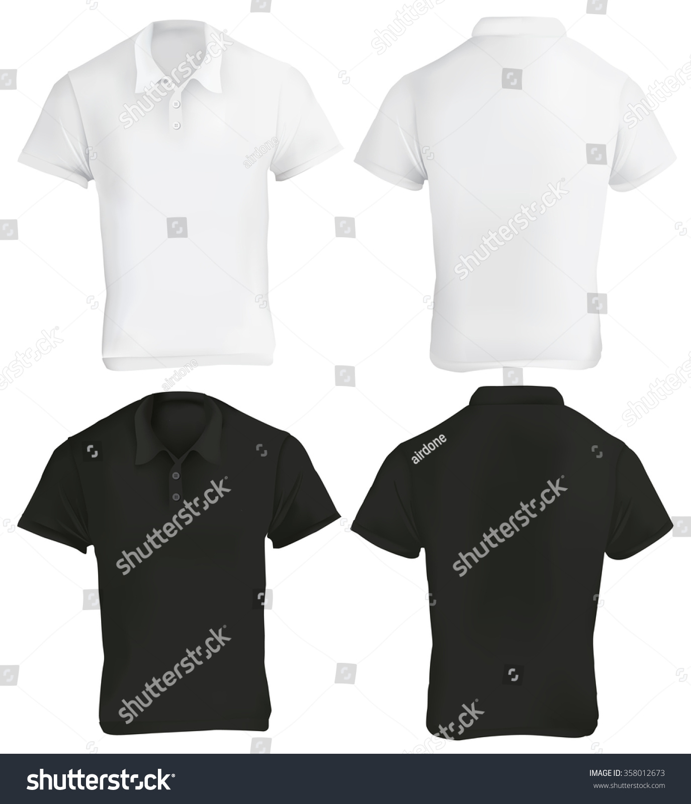 Black t shirt template vector - Blank Black T Shirt Template Vector Illustration Of Black And White Blank Polo Shirt Template Download