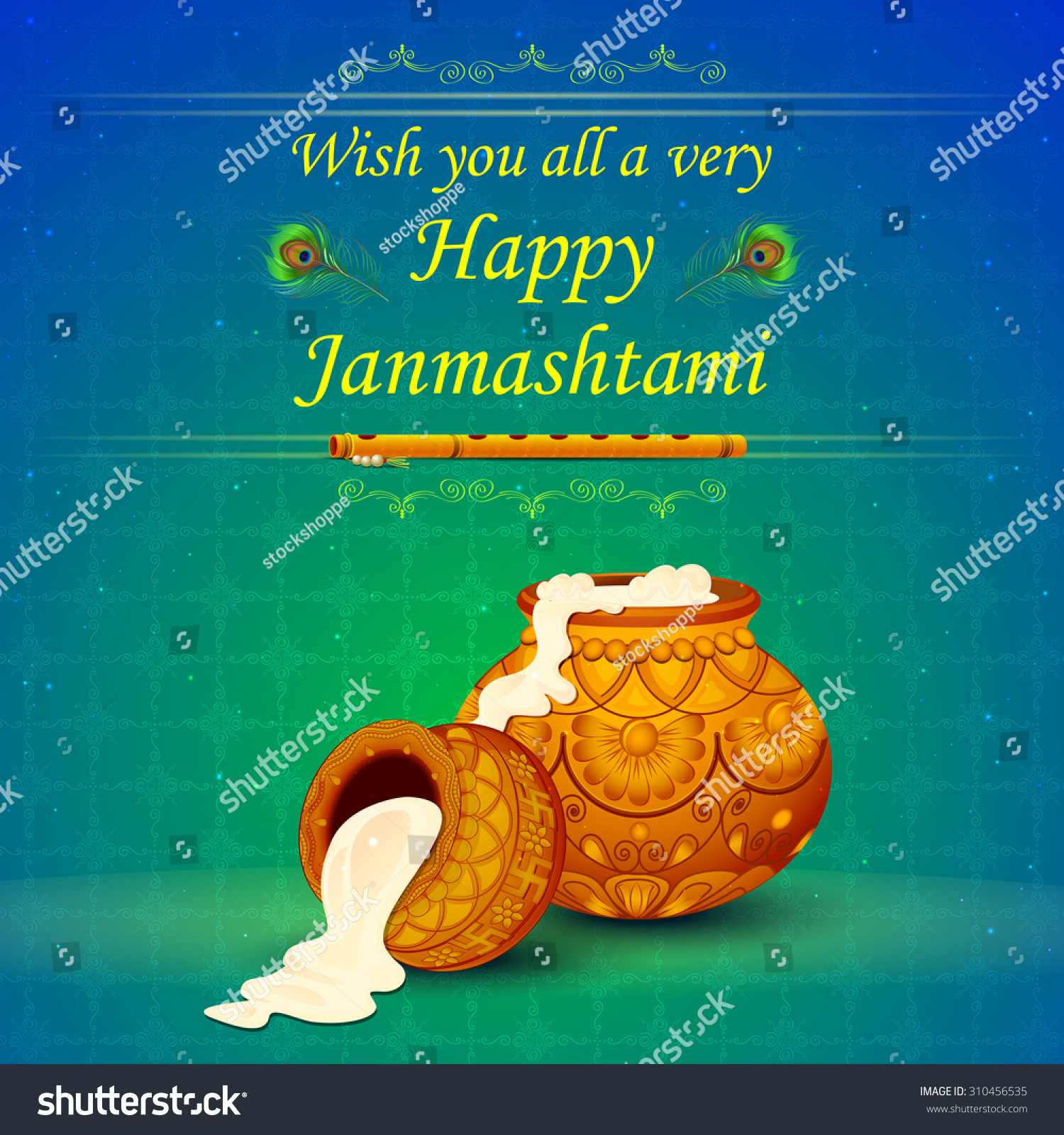 Bansuri In Janmashtami Background Stock Vector Auto Electrical Yale Gc030 Wiring Diagram Illustration Happy Wallpaper