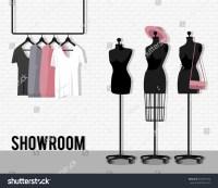 Vector Illustration Coat Rack Showroom Closet Stock Vector ...