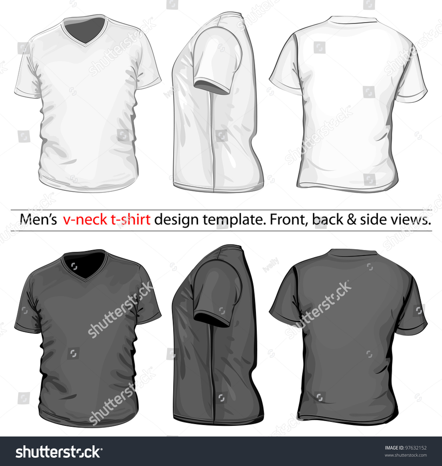Black t shirt vector free - Black T Shirt Vector Free Download Vector Men S V Neck T Shirt Design Template Front Download
