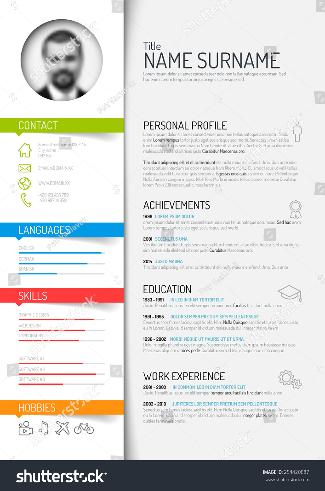 Cv Layout Examples Free Free Cv Writing Tips How To Write A Cv That Wins Vector Minimalist Cv Resume Template Light Stock Vector