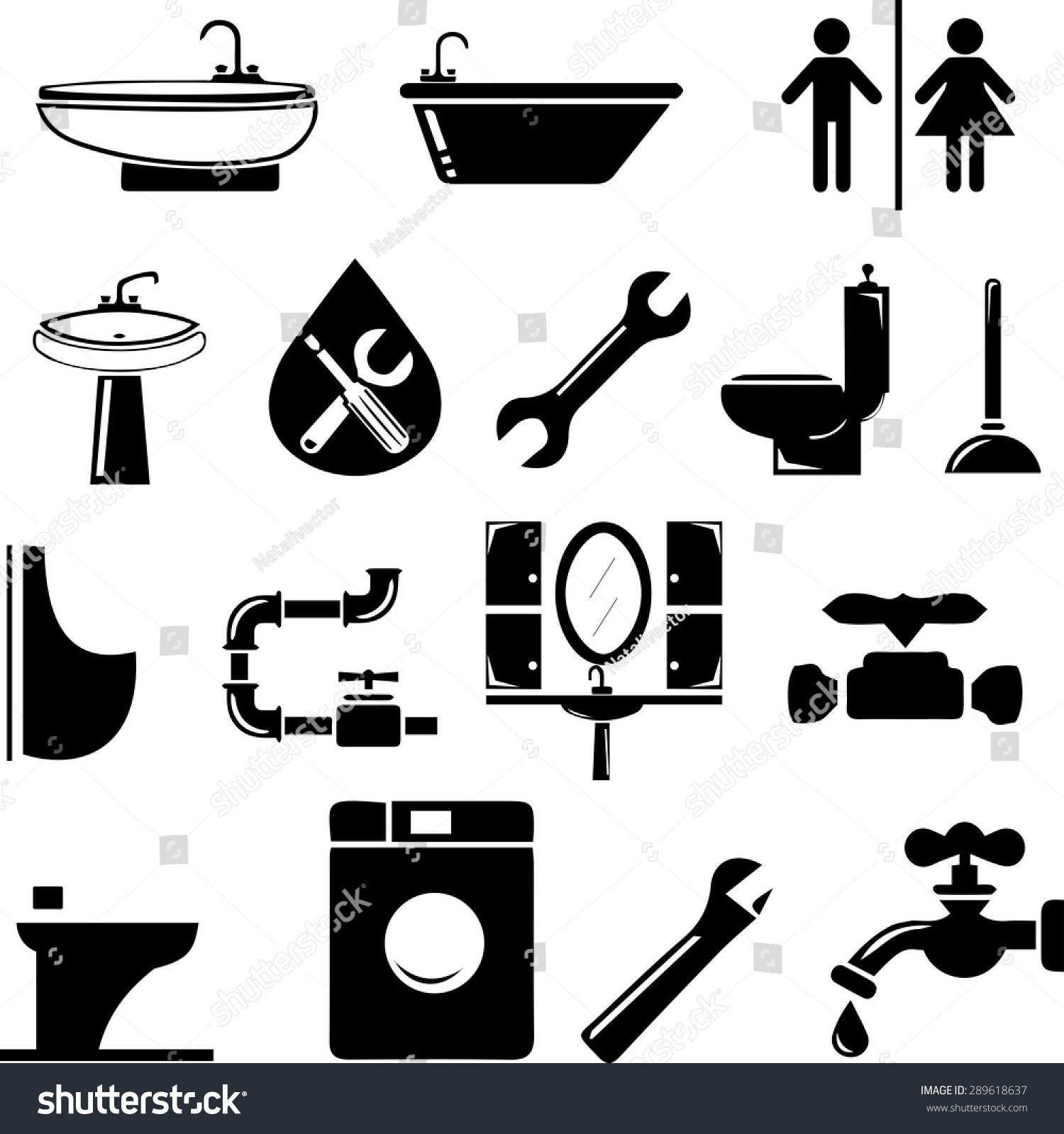 Wat Is Topic Vector Set Icons On Topic Plumbing Stock Vector Royalty Free