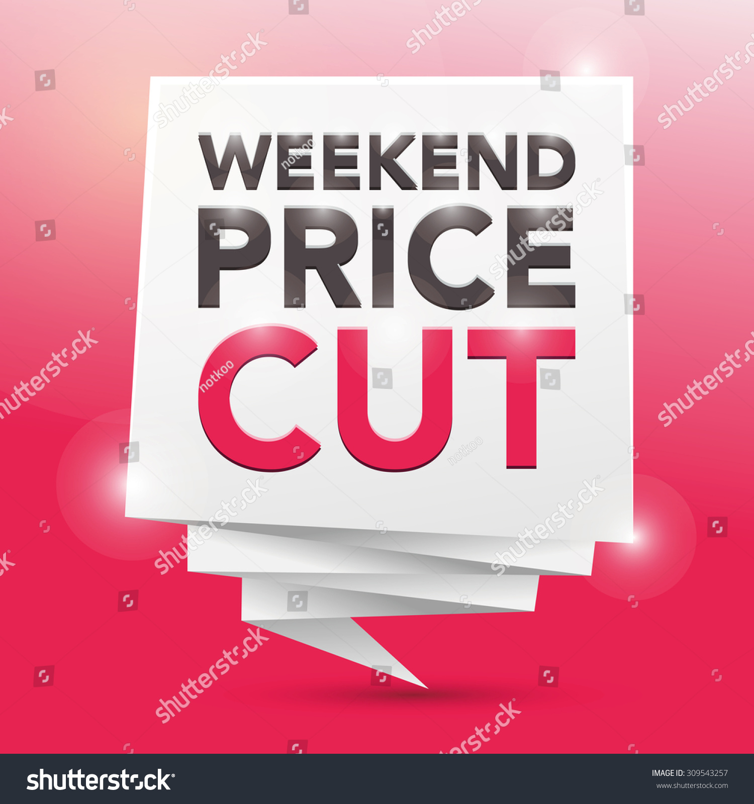 Weekend price cut poster design element preview save to a lightbox