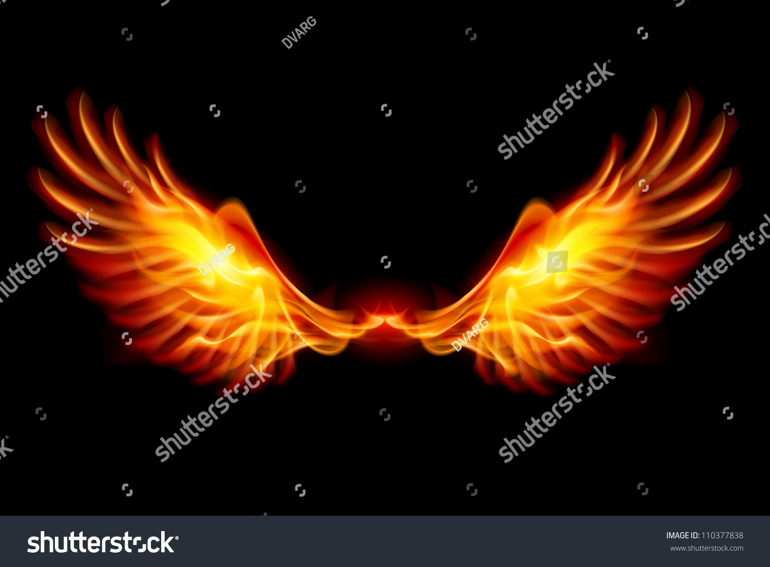 All Cars Symbols Wallpaper Wings Flame Fire Illustration On Black Stock Vector