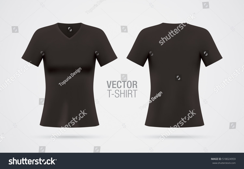 Black t shirt vector free - Black T Shirt Vector Free Download Women S V Neck T Shirt Vector Template Short Sleeve Download