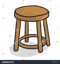 Wooden Chair / Cartoon Vector And Illustration, Isolated ...