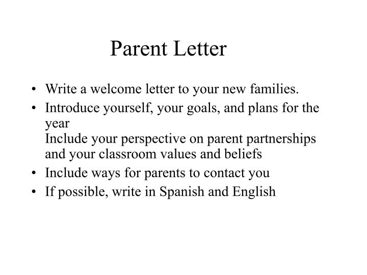 PPT - Parent Letter PowerPoint Presentation - ID1005149