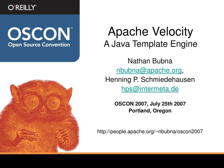 PPT - Apache Velocity A Java Template Engine PowerPoint Presentation