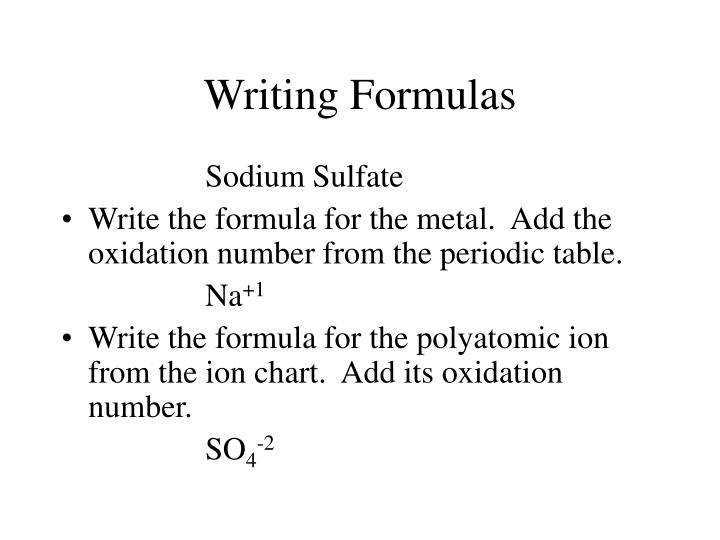 PPT - Polyatomic Ions Writing Formulas / Naming Compounds PowerPoint