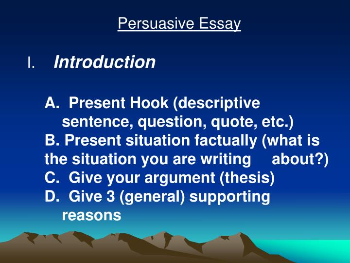 persusasive essay