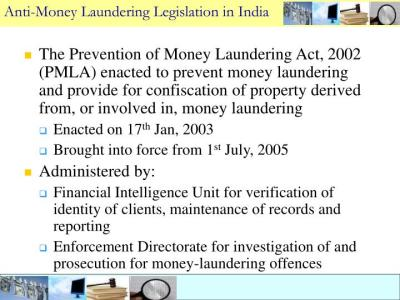 PPT - Legal regime for AML (Anti Money Laundering) in India PowerPoint Presentation - ID:1200786