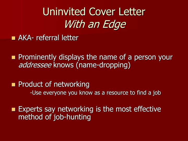 PPT - Dynamic Cover Letters PowerPoint Presentation - ID1211949
