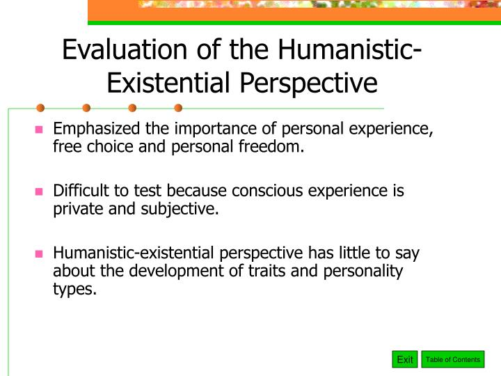 PPT - Chapter 11 PowerPoint Presentation - ID1283504 - humanistic existential perspective