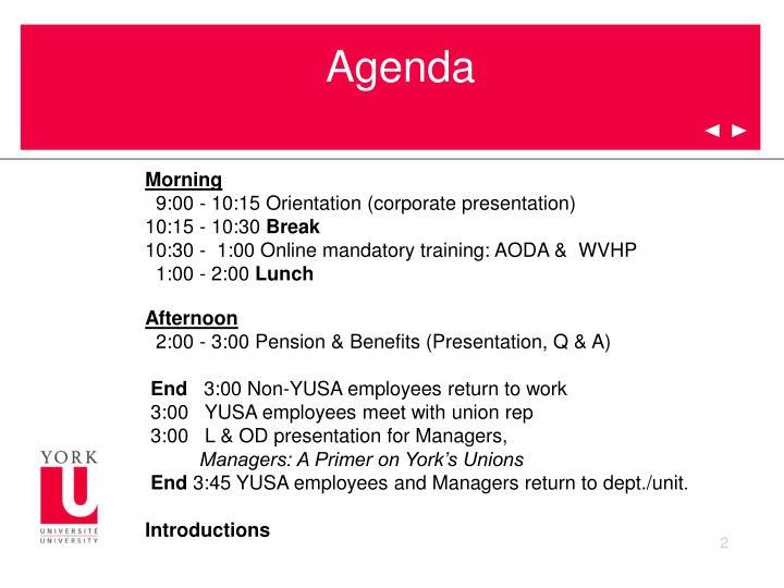 PPT - York University New Employee Orientation PowerPoint