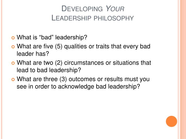 PPT - Developing Your Leadership Philosophy PowerPoint Presentation
