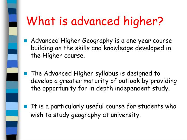 Advanced higher Geography Issues essay examples