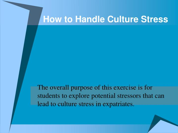 PPT - How to Handle Culture Stress PowerPoint Presentation - ID1400136