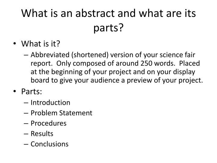 Science Project Abstract - How To Write And Use An Abstract - News