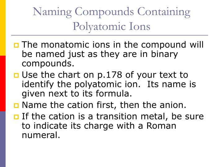 PPT - Polyatomic Ions And Their Compounds PowerPoint cvfreeletters