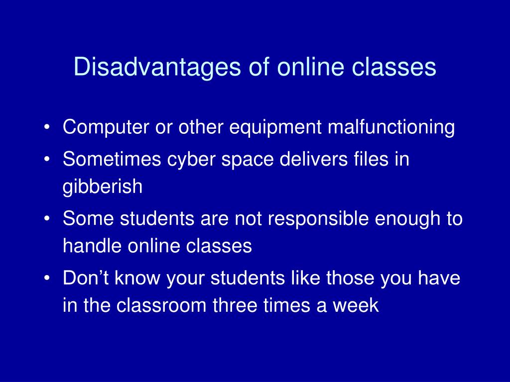 Ppt Pedagogical Techniques And Philosophical Issues Of Ape - Online Classes Disadvantages