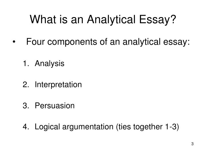 PPT - The Analytical Essay PowerPoint Presentation - ID159237