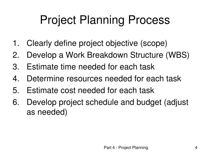 PPT - OPMA 5364 Project Management Part 4 Starting  Planning a