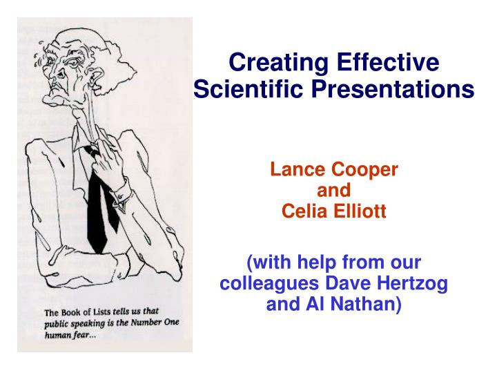 PPT - Creating Effective Scientific Presentations PowerPoint