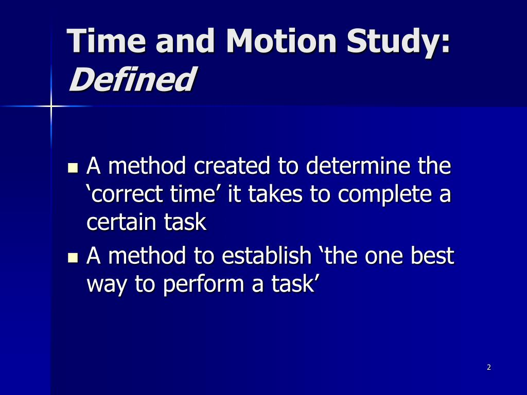 Define motion study -  Motion Study Defined Download