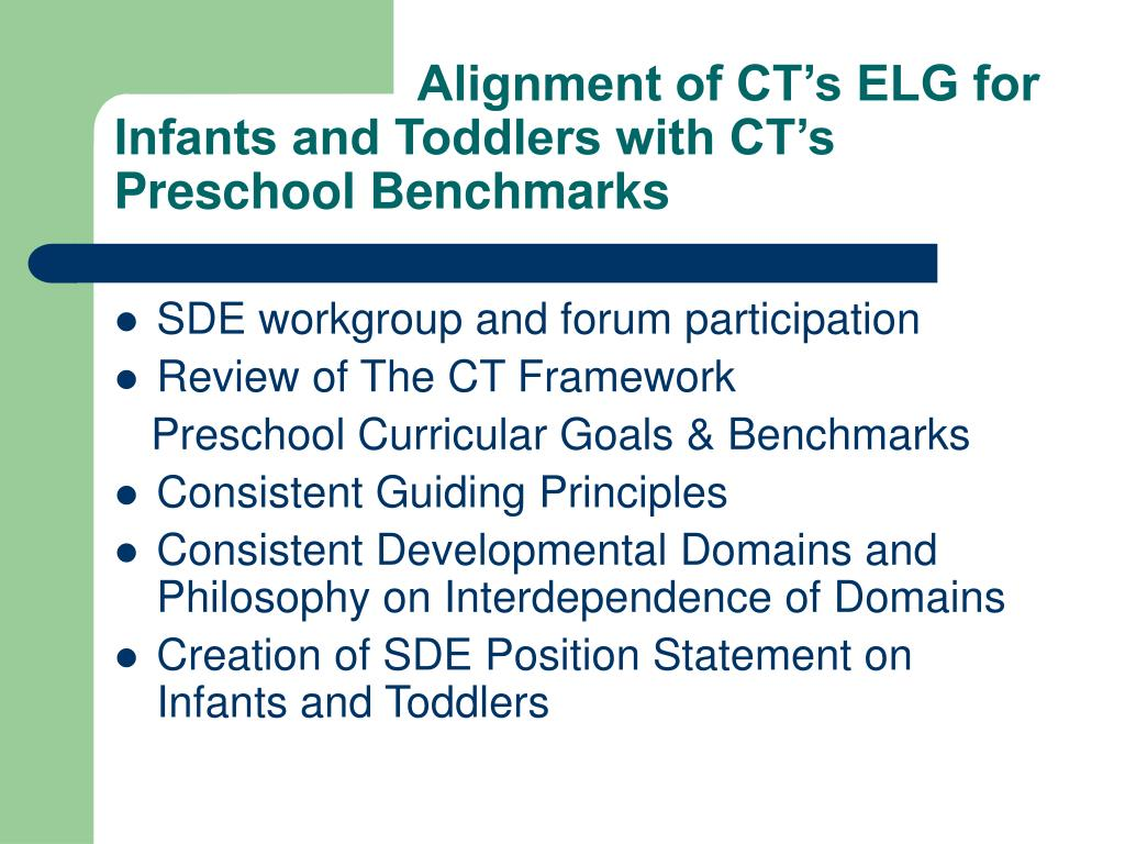 Infant Toddler Developmental Guidelines Ppt Ct's Guidelines For The Development Of Infant And