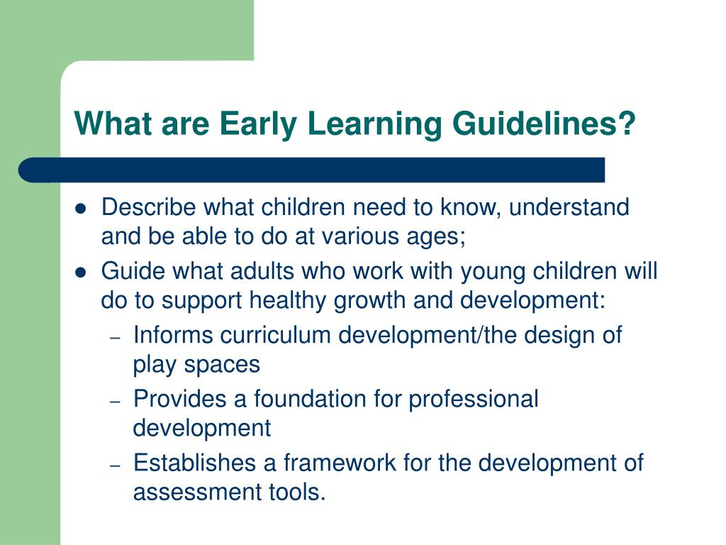 Infant Toddler Learning And Development Program Guidelines Ppt Ct's Guidelines For The Development Of Infant And