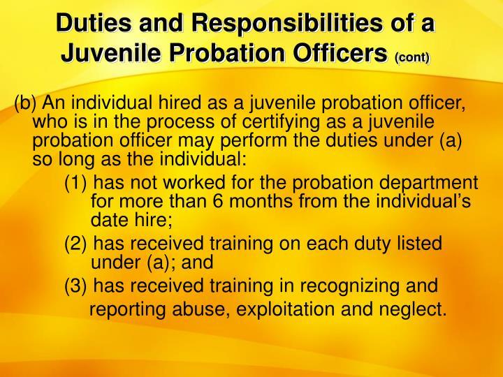 Probation Officer Job Description Probation Compliance Check Letter