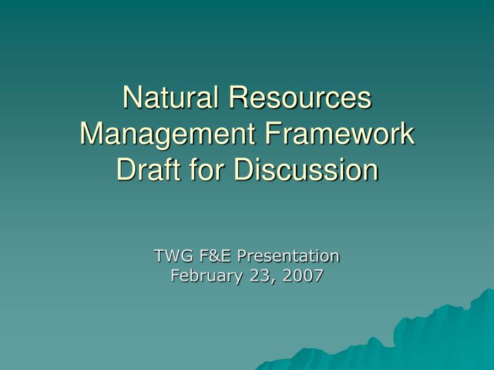 Management of natural resources ppt download link - waste management ppt