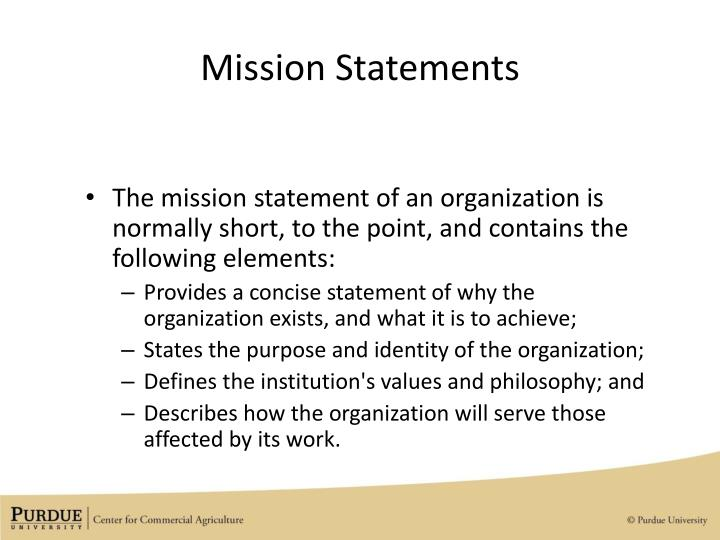PPT - How Are Vision  Mission Statements Used to Set the Strategic - short mission statements