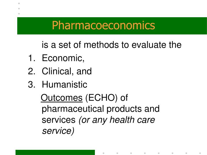PPT - Introduction to Pharmacoeconomics PowerPoint Presentation - ID