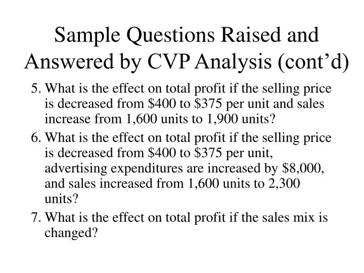PPT - Cost-Volume-Profit Analysis A Simple Model for Evaluating - cost of sales analysis