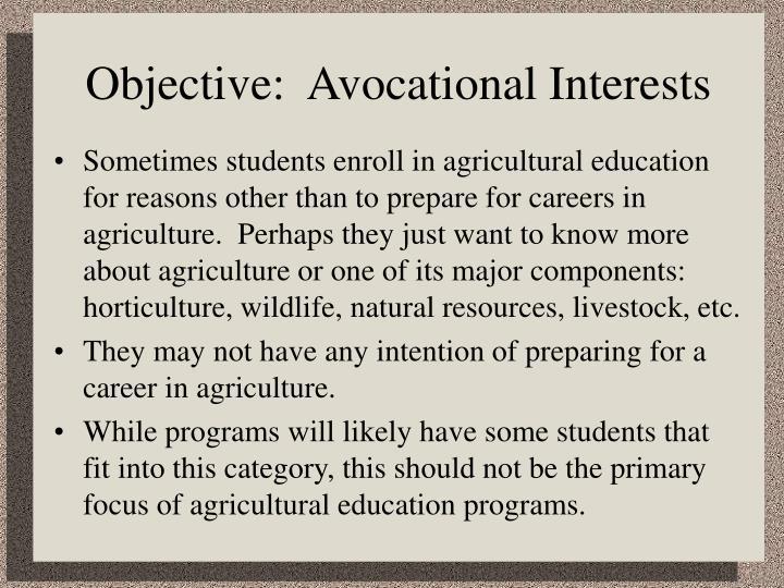 Avocational Interests cvfreepro - avocational interests