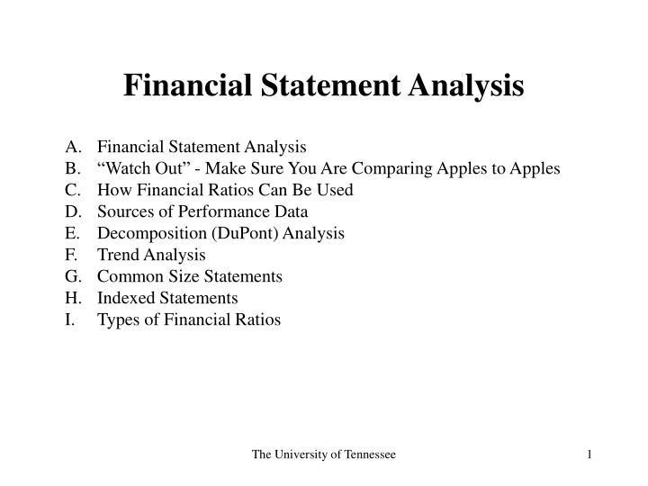 PPT - Financial Statement Analysis PowerPoint Presentation - ID290864