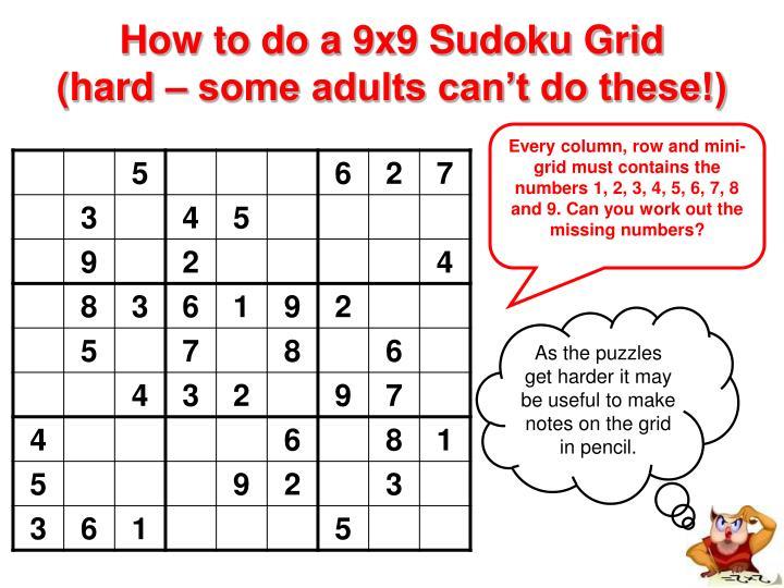PPT - Sudoku Puzzles PowerPoint Presentation - ID293040
