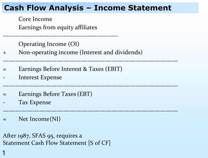 PPT - Cash Flow Analysis \u2013 Income Statement PowerPoint Presentation