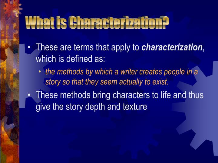 PPT - Characterization Notes PowerPoint Presentation - ID300051