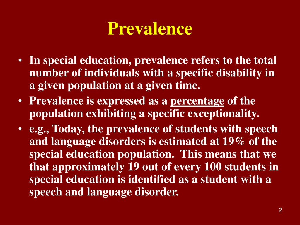 Prevalence Language Disorders Ppt Emotional Disturbance And Prevalence Rates Powerpoint